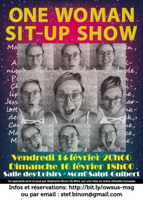 Affiche One Woman Sit-Up Show | Mont-Saint-Guibert 2020
