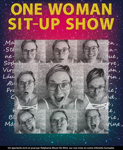 Affiche One Woman Sit-Up Show | Stef Binon